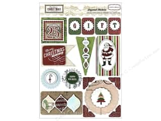 Carta Bella Dimensional Stickers: Carta Bella Sticker 12 x 12 in. So This Is Christmas Layered