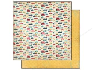 Carta Bella Carta Bella 12 x 12 in. Paper: Carta Bella 12 x 12 in. Paper Rough & Tumble Vroom Vroom (25 pieces)