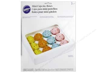 Boxes and Organizers Cooking/Kitchen: Wilton Containers Cupcake Box 12 Cavity Mini White 3pc