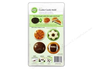 Plastics Cooking/Kitchen: Wilton Molds Cookie Candy Sports Assorted 8 Cavity