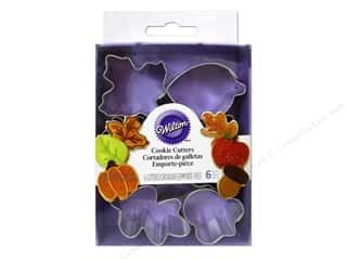 Wilton Cookie Cutter Set Mini Metal Harvest 6pc