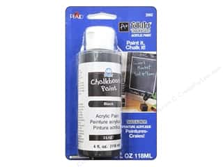 acrylic paint: Plaid FolkArt Chalkboard Paint Carded Black 4oz