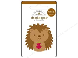 sticker: Doodlebug Doodle-Pops 3-D Stickers Happy Hedgehog