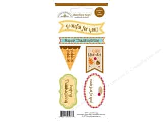 Licensed Products Fall / Thanksgiving: Doodlebug Stickers Happy Harvest Doodle Tags