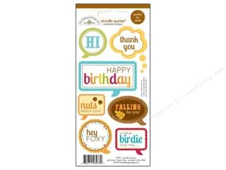 Licensed Products Fall / Thanksgiving: Doodlebug Stickers Happy Harvest Doodle Quotes