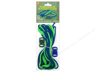 Pepperell Braiding Co. Crafting Kits: Pepperell Parachute Cord Accessories Friendship Bracelet Kit Blue/Green