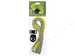 Lanyard Braiding Pepperell Parachute Cord Accessories: Pepperell Parachute Cord Accessories Compass Bracelet Kit Yellow/Rainbow