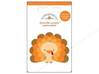 sticker: Doodlebug Doodle-Pops 3-D Stickers Tommy Turkey