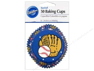 Sports Cooking/Kitchen: Wilton Baking Cup Standard Baseball 50pc