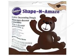 Edibles / Foods: Wilton Edible Decorations Shape N Amaze Decorating Dough 6oz Brown