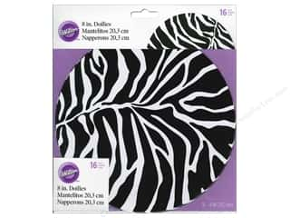 "Doily: Wilton Decorations Doily 8"" Zebra 16pc"