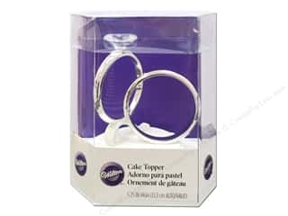 "Wedding & Bridal $5 - $8: Wilton Decorations Cake Topper 5.5"" Two Ring"