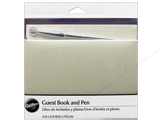 Cooking/Kitchen Wedding: Wilton Accessories Guest Book All Occasions Pearl White