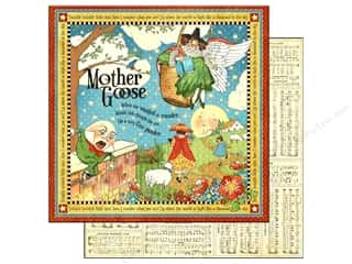Graphic 45 Clearance Crafts: Graphic 45 Paper 12x12 Mother Goose (25 pieces)