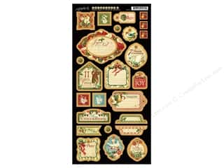 Graphic 45 Die Cut 12 Days Christmas Chipboard 2