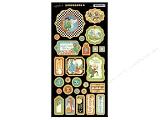 Tags Clearance Crafts: Graphic 45 Die Cut Mother Goose Chipboard 1