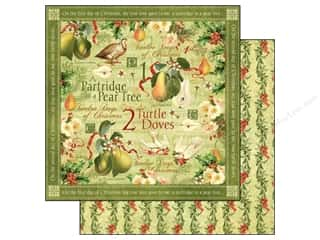 Graphic 45 Paper 12x12 12 Days Xmas Turtle Doves (25 piece)
