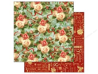 Graphic 45 Paper 12x12 12 Days Xmas Rose (25 piece)