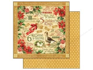 Sale Christmas: Graphic 45 Paper 12x12 12 Days of Christmas Golden Rings (25 pieces)