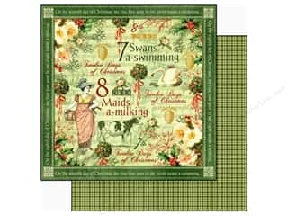 Graphic 45 Paper 12x12 12 Days Xmas SwansSwim (25 piece)