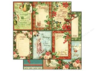 Graphic 45 Paper 12x12 12 Days Xmas Holly & Ivy (25 piece)