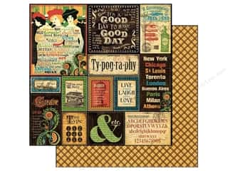 Pens Stock Up Sale: Graphic 45 Paper 12x12 Typography (25 pieces)