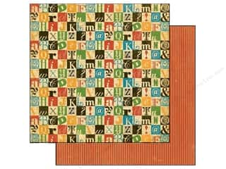 Graphic 45 ABC & 123: Graphic 45 Paper 12x12 Typography Create (25 pieces)