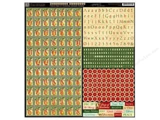 Graphic 45 Graphic 45 Sticker: Graphic 45 Sticker 12 Days Of  Christmas Alphabet