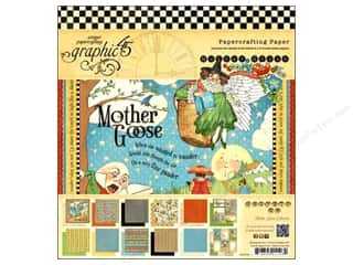 "Cardstock  8x8: Graphic 45 Paper Pad Mother Goose 8""x 8"""