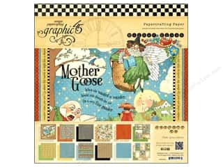 "Baby Black: Graphic 45 Paper Pad Mother Goose 12""x 12"""