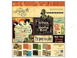 "Scrapbooking Weekly Specials: Graphic 45 Paper Pad Typography 12""x 12"""