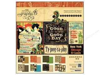 "Everything You Love Sale Graphic 45 Paper Pad: Graphic 45 Paper Pad Typography 8""x 8"""