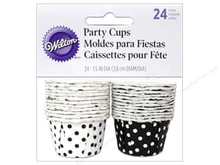 Wilton Party Cup 1.25oz Dots Black 24pc