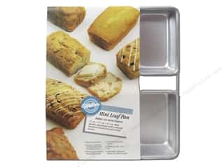 "Wilton Brown: Wilton Bakeware Pan Loaf Mini 6 Cavity 4.5""x 2.5""x 1.5"" Aluminum"