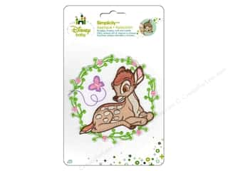 Baby Irons: Simplicity Disney Baby Iron On Bambi With Flower