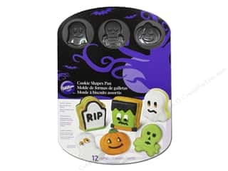 Halloween Baking Supplies: Wilton Bakeware Pan Sandwich Cookie Halloween 12 Cavity Non Stick