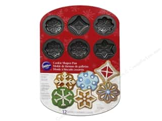 Baking Pans / Baking Sheets: Wilton Pan Cookie Snowflake 12 Cav NStick