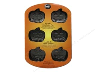 Food $6 - $10: Wilton Bakeware Pan Cake Mini Jack O Lantern 6 Cavity Non Stick