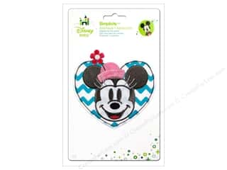Appliques $4 - $18: Simplicity Disney Baby Iron On Minnie Head In A Heart