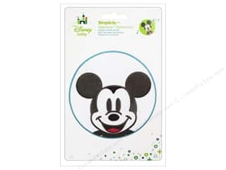 Appliques $4 - $18: Simplicity Disney Baby Iron On Mickey Head In Blue Circle