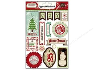 Winter Wonderland: Echo Park Chipboard Reflections Christmas Layered