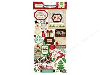 "Captions paper dimensions: Echo Park Chipboard 6""x 12"" Reflections Christmas Accent"