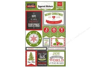 Echo Park Paper Company Echo Park Sticker: Echo Park Sticker Tis The Season Layered