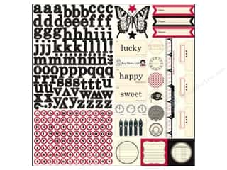 Note Cards & Envelopes: Echo Park Sticker 12x12 Jenni Bowlin Element (15 set)