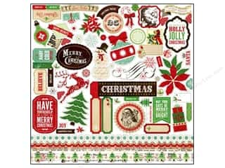 "Echo Park Paper Company Stickers: Echo Park Sticker 12""x 12"" Reflections Christmas Element (15 sets)"