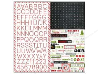 Echo Park Sticker 12x12 Tis The Season Alphabet (15 set)