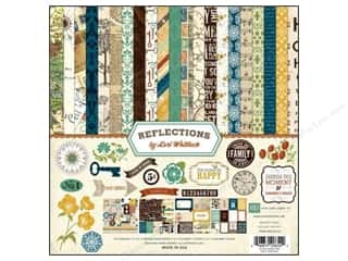 Echo Park Paper Company Alphabet Stickers: Echo Park 12 x 12 in. Reflections Collection Kit