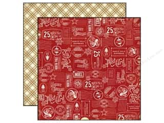 Echo Park 12 x 12 in. Paper Christmas Stamps (25 piece)