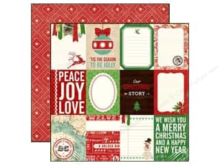 Christmas Burgundy: Echo Park 12 x 12 in. Paper Reflections Christmas Collection Christmas Story (25 pieces)