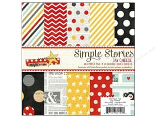 "Simple Stories Designer Papers & Cardstock: Simple Stories Paper Pad Say Cheese 6""x 6"""